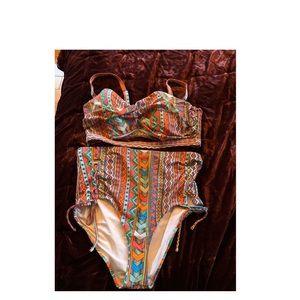 Plus size Aztec bikini